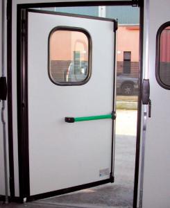 Skládací vrata bez spodní lišty