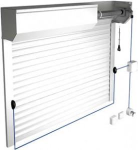 Rolovací garážová vrata konstrukce