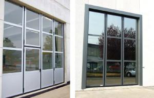 Prosklená garážová vrata
